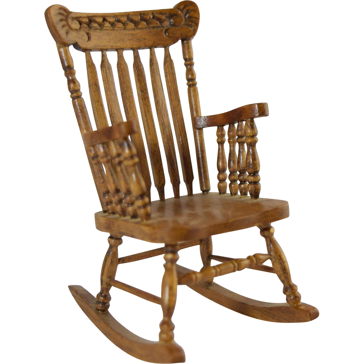 Back Type Spindle Rocking Chair From Greatexpectations On Ruby Lane. Full resolution  file, nominally Width 1159 Height 1159 pixels, file with #472B17.