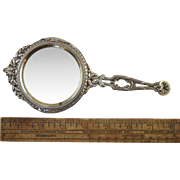 Antique French Sterling Silver Gilt Desk Magnifying Glass Risler & Carre c1890-1900 Neo-Classical Design