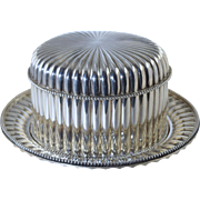 1897 Dutch Silver Biscuit Box w/Tray Reeded & Beaded Design Antique **J.M. Van Kempen & Zoon (Son)
