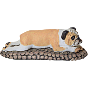 Basil Matthews Bulldog Large Figurine 1982 Signed Dog Vintage