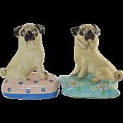 Vintage Basil Matthews Pair Pug Dogs On Pillows... so cute!