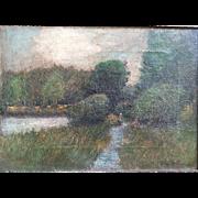 Leon J. Friedheim (American 1871-1936) 1922 Impressionist Landscape Painting St. Louis Missouri Artist