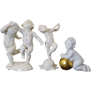 Three Vintage Porcelain Cherub Figurines Hutschenreuther & Gerold So Cute!