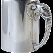 "Rare 1882 Gorham ""Jumbo"" the Elephant Sterling Christening Cup/Mug**Antique Figural**P.T.Barnum"