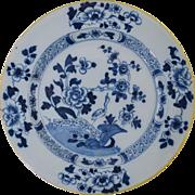 "18th Century English Delft Plate Antique Pottery 8 7/8"" #1"