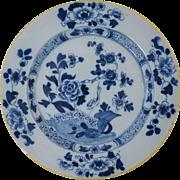 "18th Century English Delft Plate Antique Pottery 8 3/4"" #2"