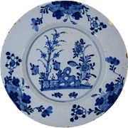 "18th Century English Delft Plate Antique Pottery 8 7/8"" #3"