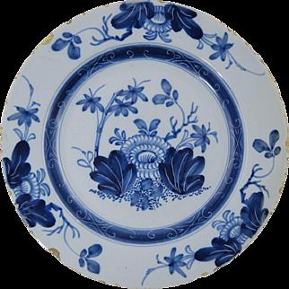 "18th Century English Delft Plate Antique Pottery 8 7/8"" #4"