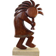 Joseph Chavez (1938- ) Kokopelli Carved Sculpture Southwest Albuquerque NM