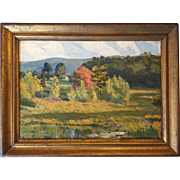 1920 Robert Chadeayne (1897-1981) Impressionist Landscape Painting NY/Ohio