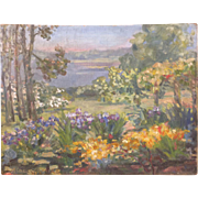 Agnes Louise Symmers (1882-1941) Garden Flower Landscape Charlottesville Va Artist