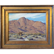 Clyde Forsythe (California 1885-1962) Desert Mountain Oil Landscape Painting