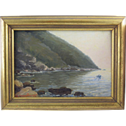 Sophia Laskaridou (1876-1965) Greek Impressionist Oil Painting dated 1906 Messolonghi Lagoon?