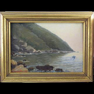 Sophia Laskaridou (1876-1965) Greek Impressionist Oil Painting dated 1906 Messolonghi Lagoon?