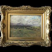 "Oscar Coast ""Drifting Clouds"" Santa Barbara 1902 California Impressionist Landscape Painting"