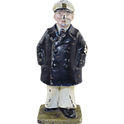 Vintage Navy Sea Captain Doorstop or Bookend Cast Iron