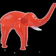 Vintage Hand Blown Glass Elephant Figurine Hollow Italian