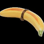 Eximious Limoges France Banana Fruit Form Peint Mein Trinket Box