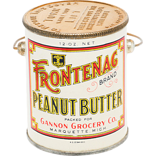 Vintage Frontenac Peanut Butter Tin in Beautiful  Condition
