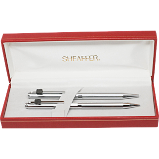 Sheaffer White Dot Union Pacific RR Pen and Pencil Set