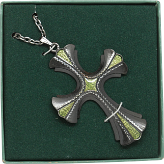 Sarah Coventry Limited Edition Cross Pendant on Chain 1976