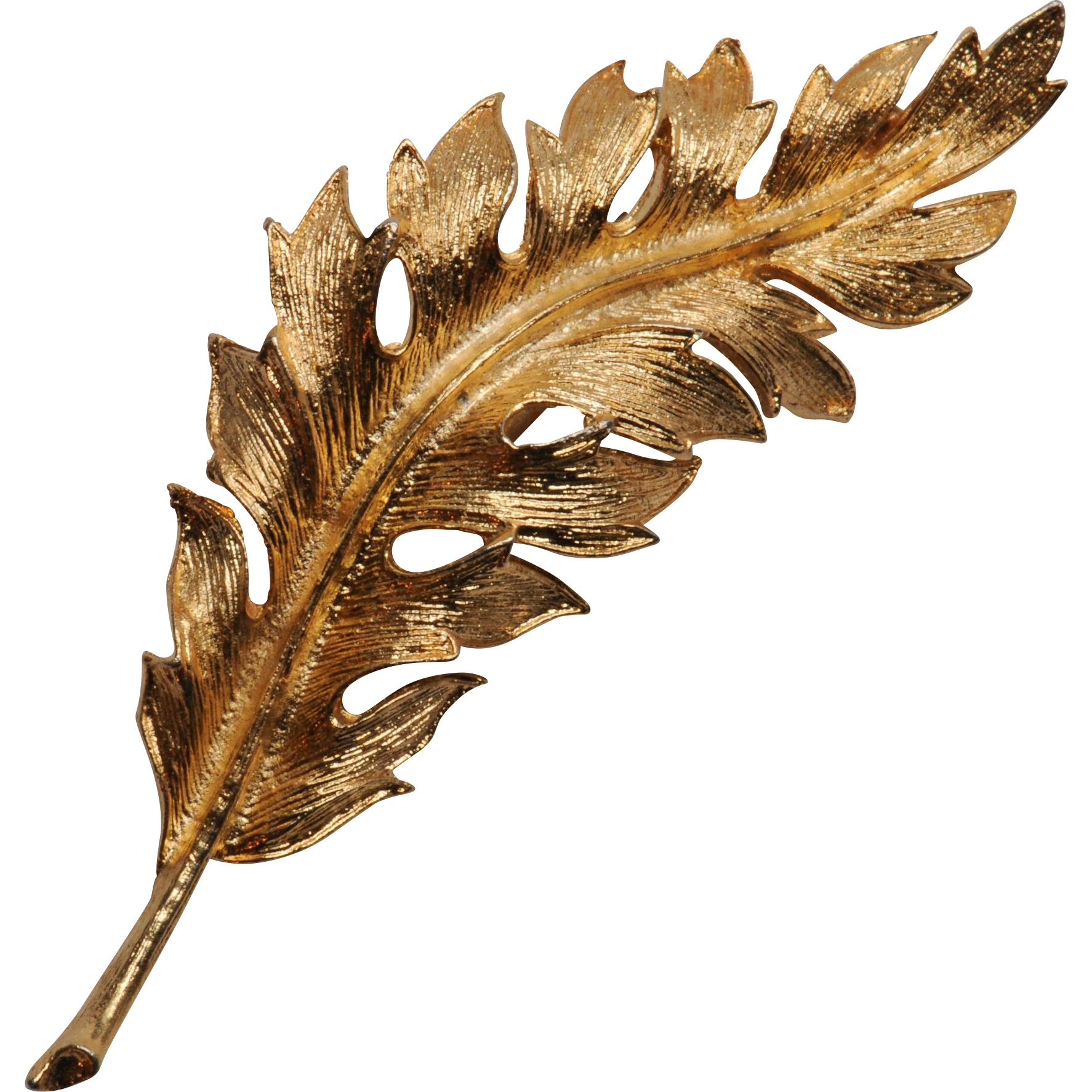 Coro Dated Goldtone Leaf Pin or Brooch