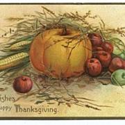 International Art Thanksgiving Postcard - Pumpkin