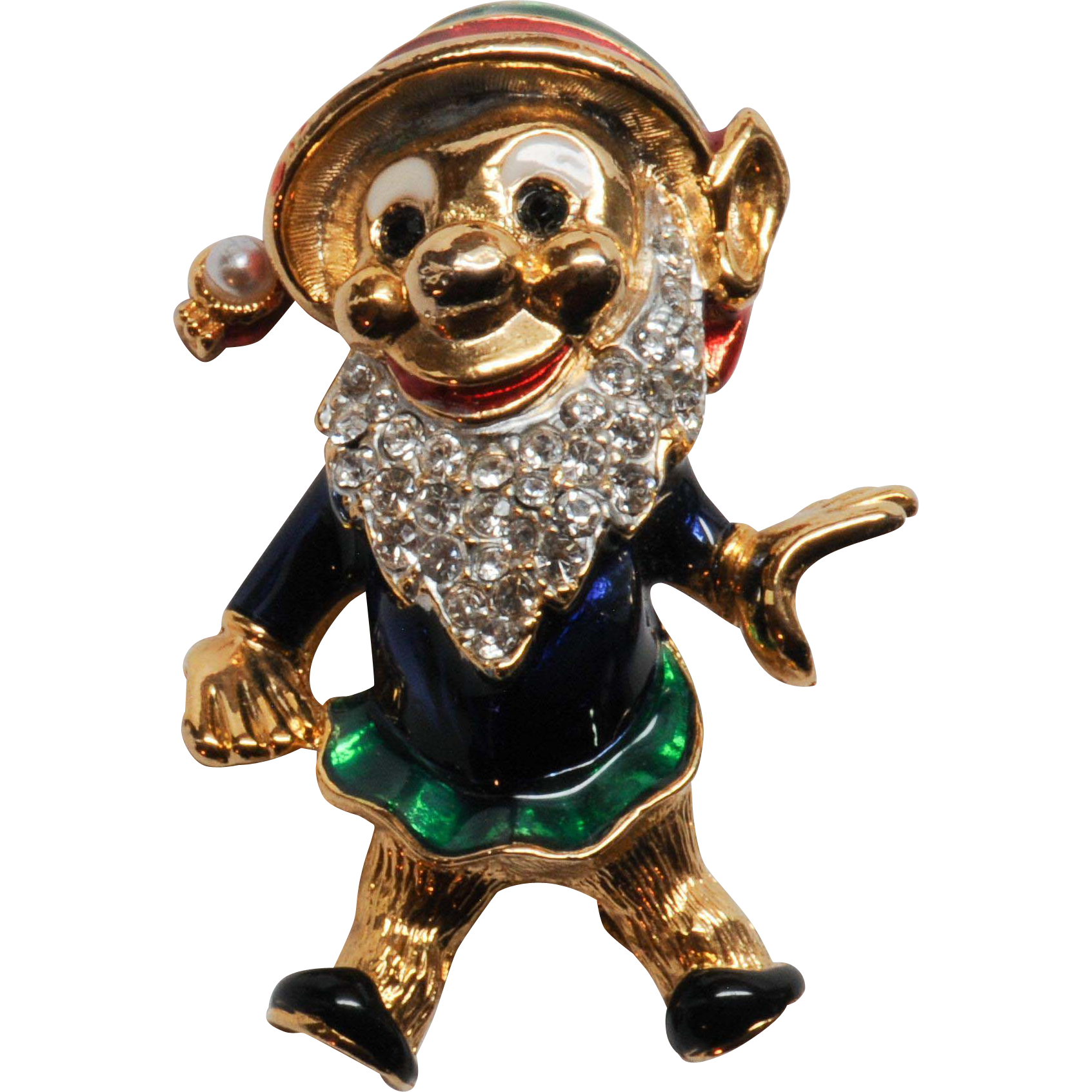 Butler and Wilson Gnome, Elf or Dwarf Pin