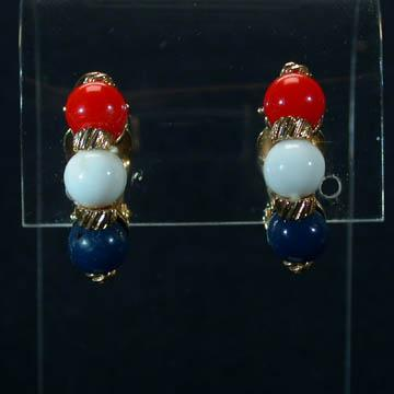 Marvella Red White and Blue Earrings
