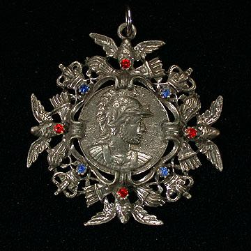 Large Maltese Cross Pendant with Roman Centurion