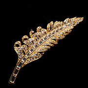 Stunning Nolan Miller Feather Pin Brooch