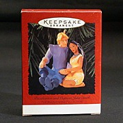 1995 Pocahontas and Captain John Smith Hallmark Ornament