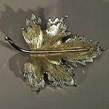 Sarah Coventry Nature's Choice Two Tone Maple Leaf Pin