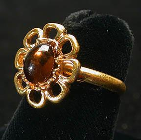 Sarah Coventry Cinnamon Flower Ring