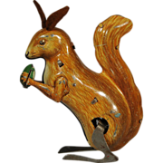 Cute Tin Wind Up Squirrel US Zone Germany