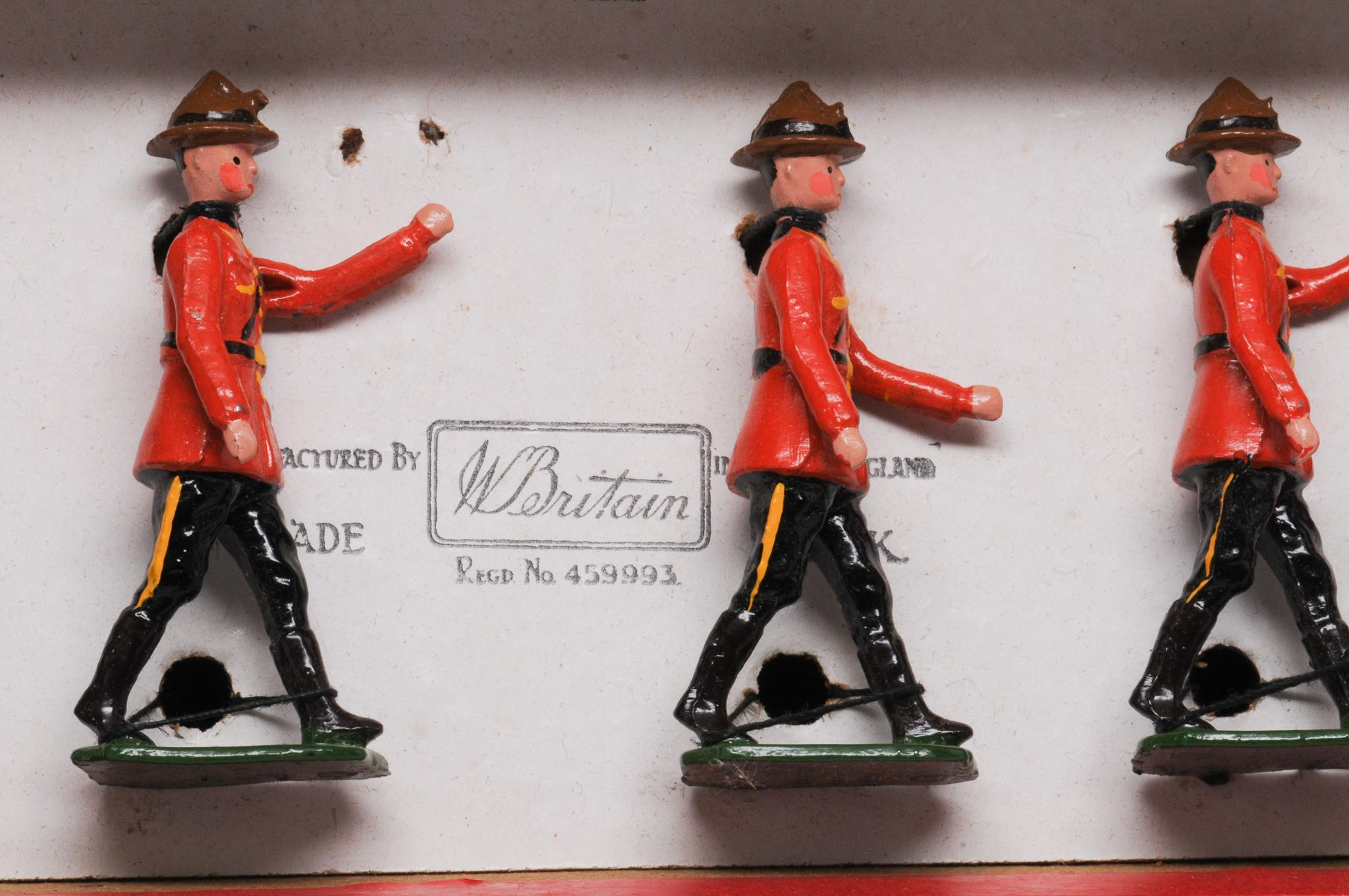 Vintage Britains Set 1554 RCMP Dismounted in Soldiers of the British Empire box