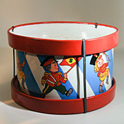 Colorful Ohio Art Tin Toy Drum