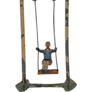 Britains Boy on Swing Lead Toy from farm series