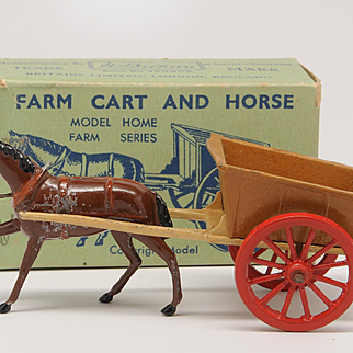 Britains Lead Farm Cart and Horse in Box 40F