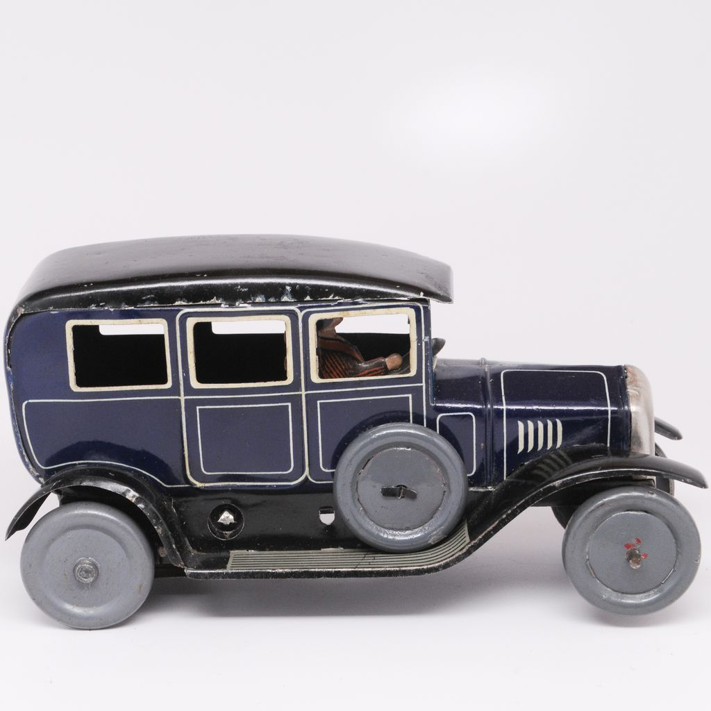 25 30 Bing Website: Vintage Bing Tin Wind Up Car Late 1920's With Lady Driver