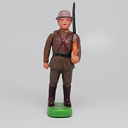 Vintage Celluloid Soldier with Rifle - Japan Kintaro/Marugane