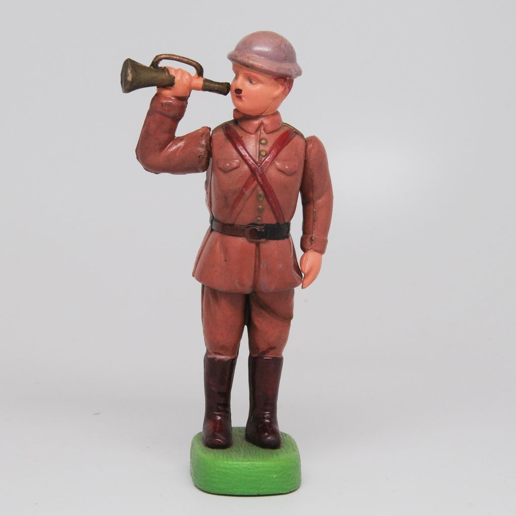Vintage Celluloid Soldier with Bugle - Japan Kintaro/Marugane