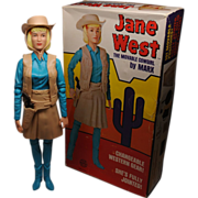 Marx Jane West Cowgirl Mint In Box with All Accessories