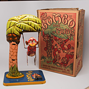 Unique Art Bombo the Monk Vintage Windup Tin Toy