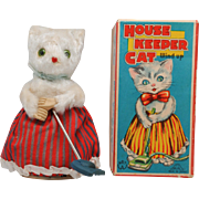 Wind Up House Keeper Cat MM Japan