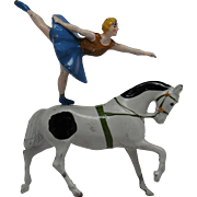 Britains Lead Trotting Horse and Equestrienne from Circus Series