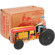 Courtland Walt Reach Wind Up Tractor No 6000 NMIB