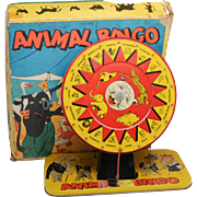 Animal Bingo Tin Litho Game MIB Baldwin Vintage Toy