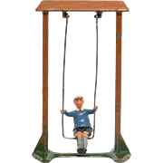Britains 619 Lead Boy On Swing Near Mint