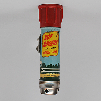 Roy Rogers and Trigger Signal Siren Flashlight